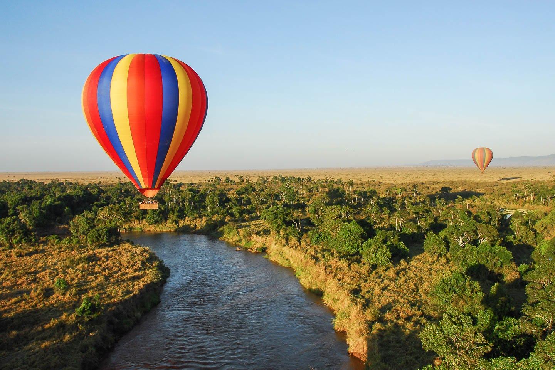 best time to visit Kenya - Hot air balloon trip
