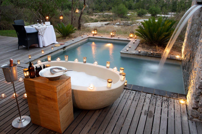 baths with a view honeymoon safari