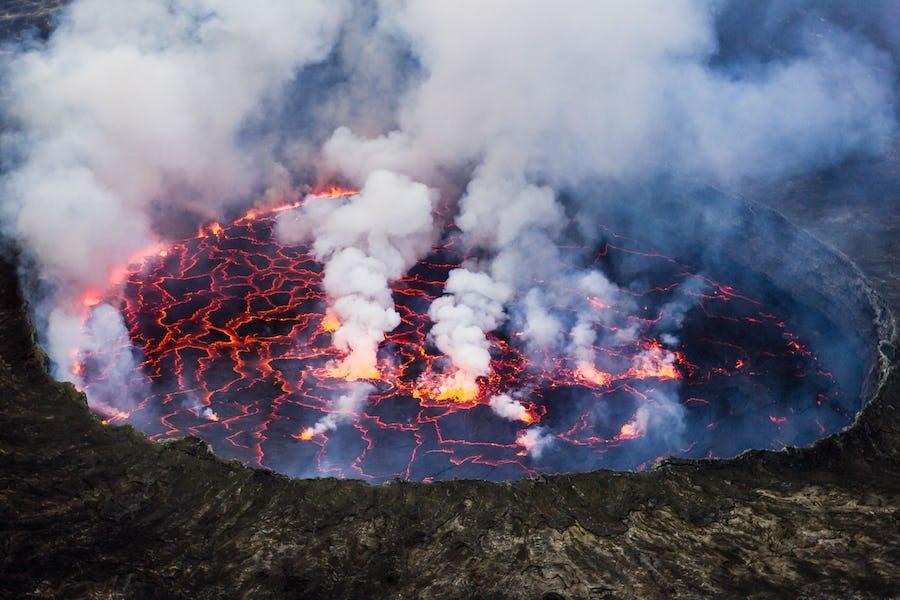 Climb Mount Nyiragongo virunga volcano top african adventures