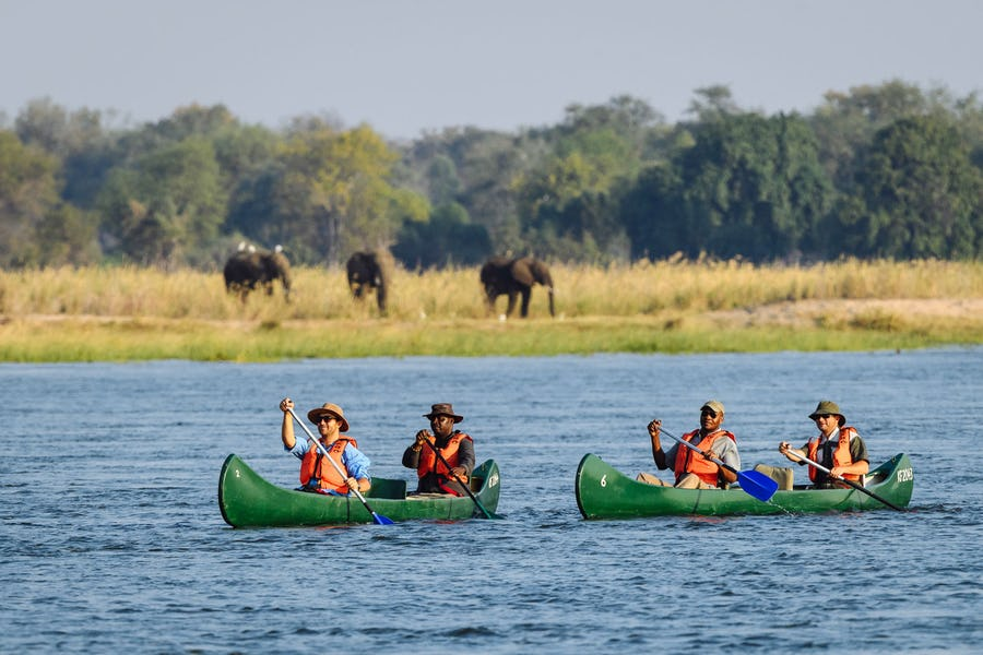 Mana pools canoe trip top african adventures