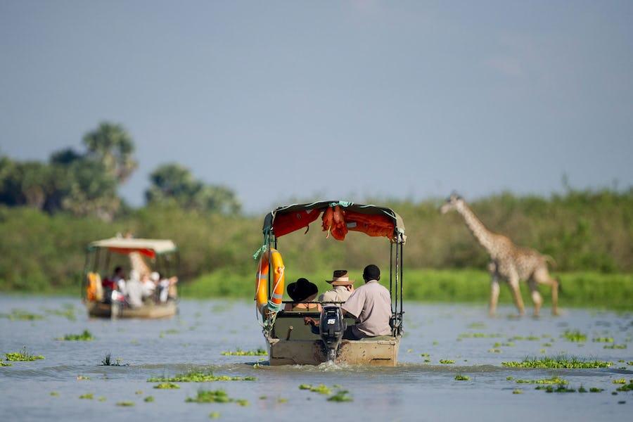 Tanzania Selous Lake Manze Boat Safari
