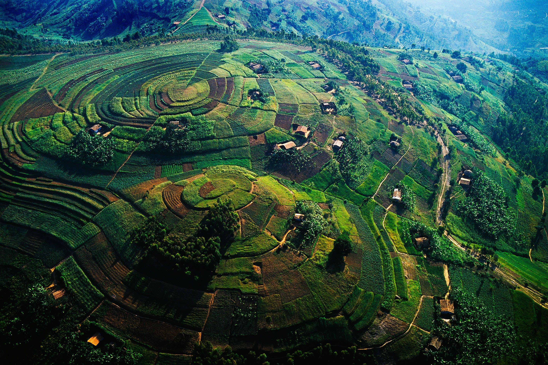 Rwanda countryside, Virungas