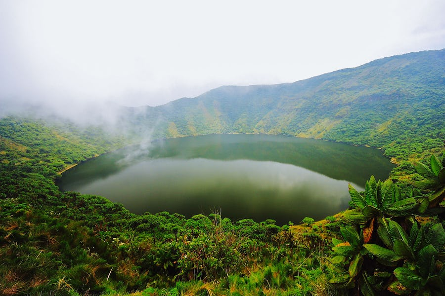 Mount Bisoke is a dormant volcano within Volcanoes National Park, one of the most beautiful places in Africa