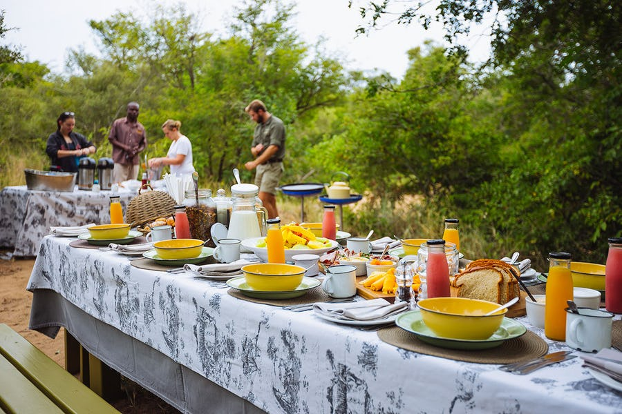 breakfast, thornybush, Kruger