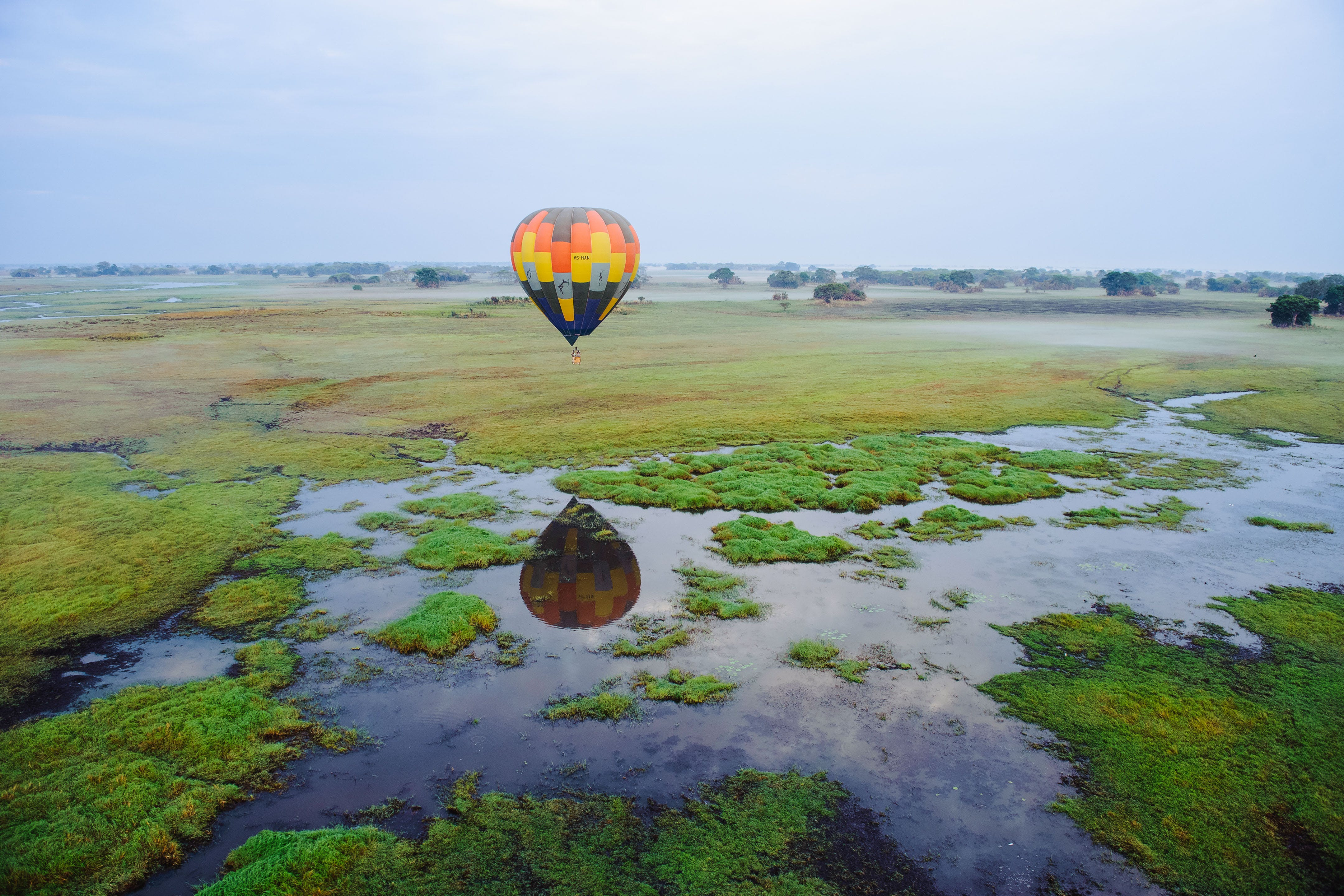 Hot air balloon safari in Kafue National Park - What to do in Zambia