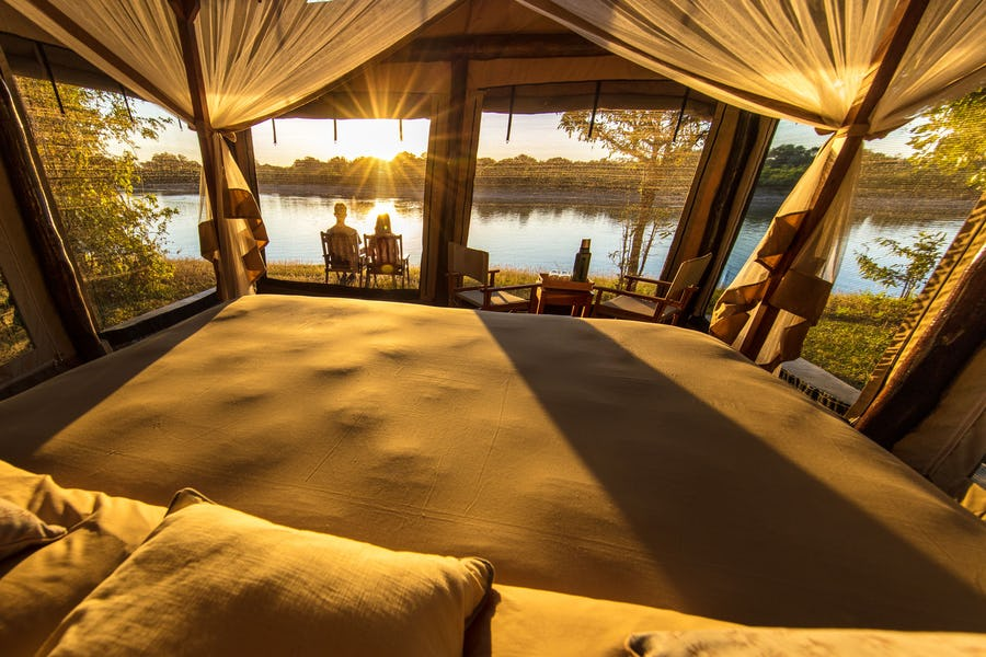 Sundowners at Luambe Camp Luambe National Park - What to do in Zambia