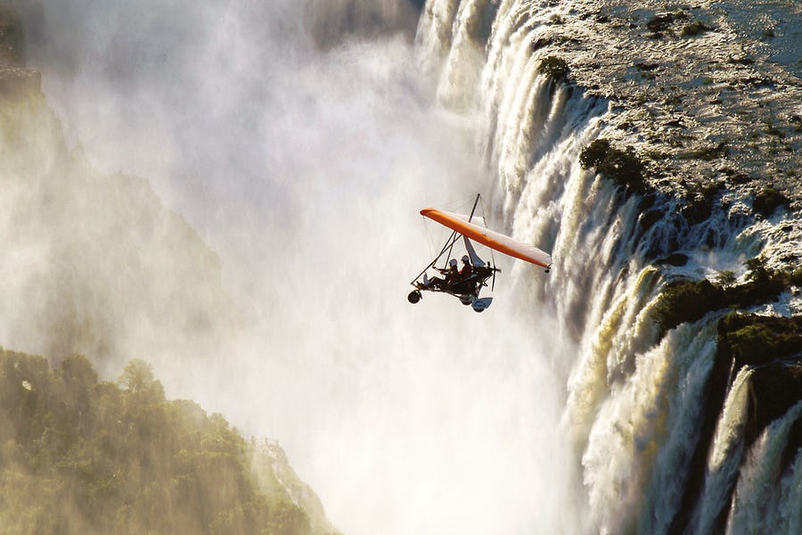 Microlight flight Victoria Falls - What to do in Zambia