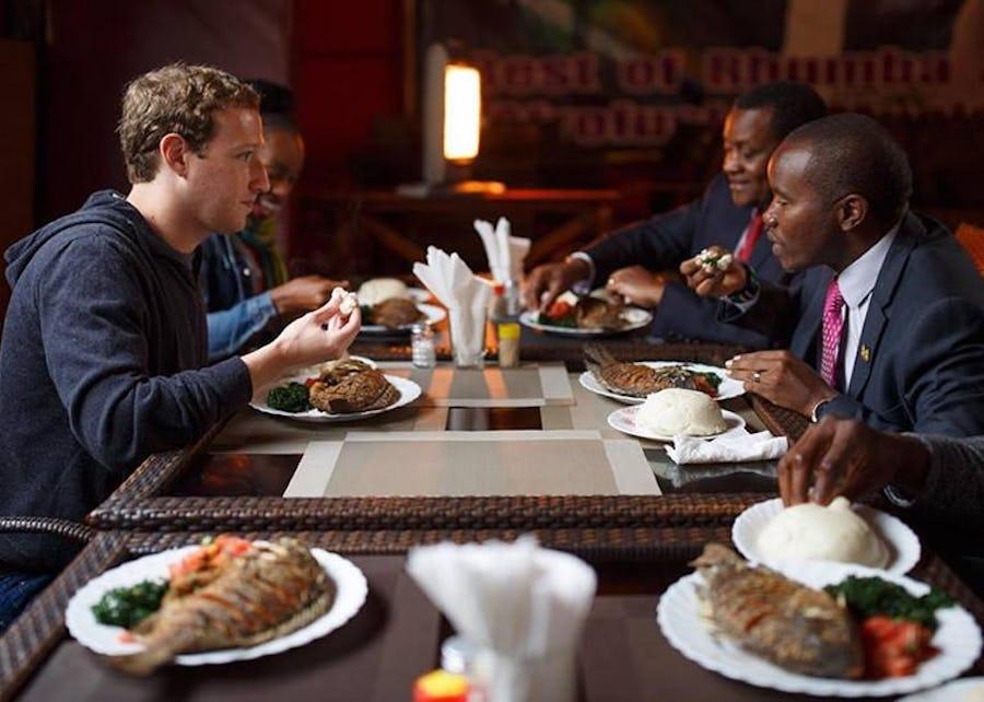 Mark Zuckerberg Nairobi Mama Oliech