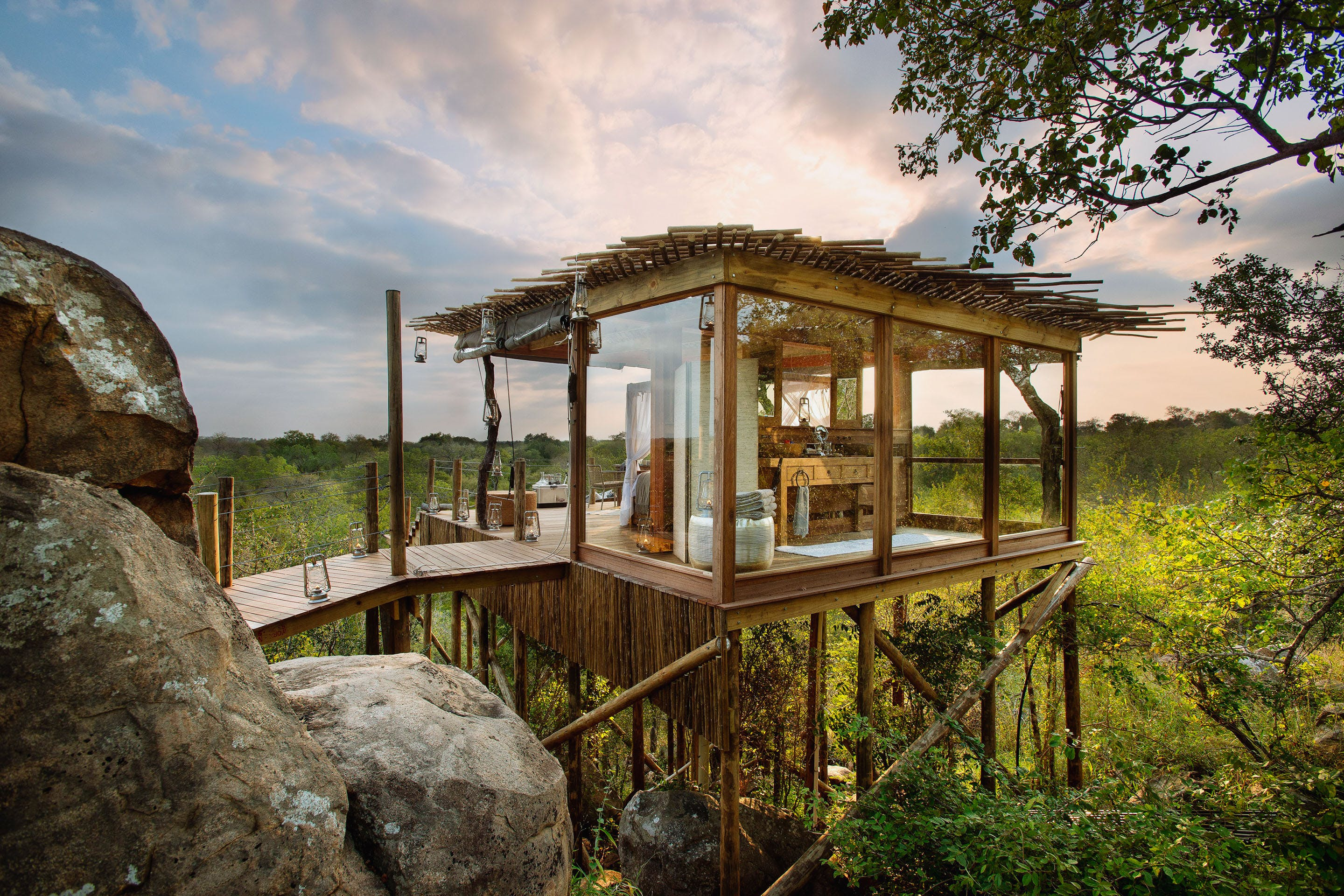 Lion Sands Ivory Lodge Kingston Tree House Top places to sleep out in Africa
