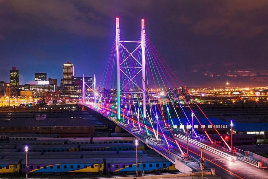 24 hours in Johannesburg - nelson mandela bridge