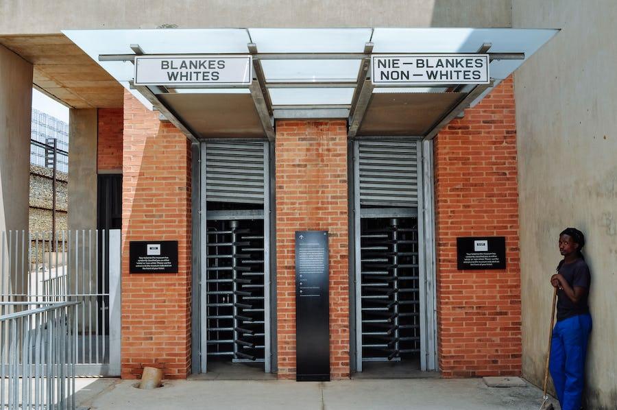 Cultural experiences in Africa - apartheid museum