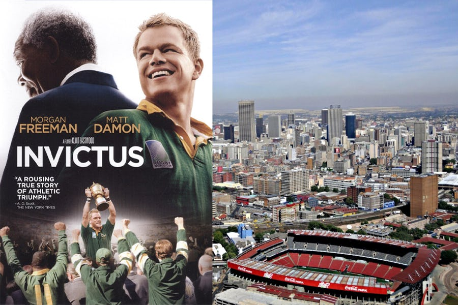 Famous movies filmed in Africa - invictus