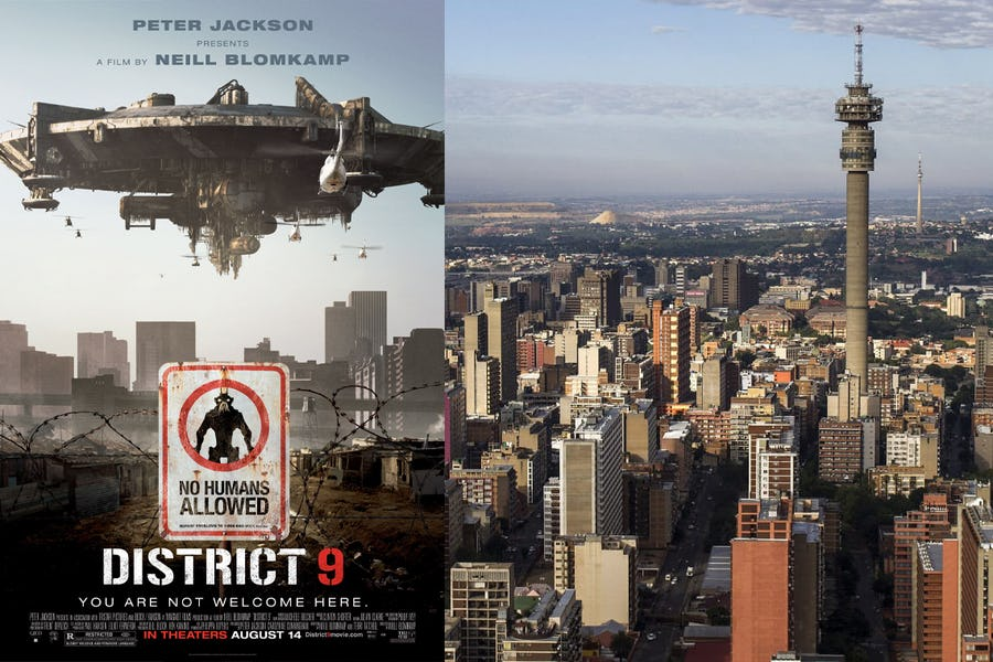 Famous movies filmed in Africa - district 9
