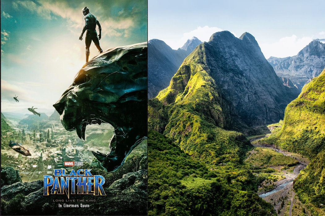 Famous movies filmed in Africa - black panther