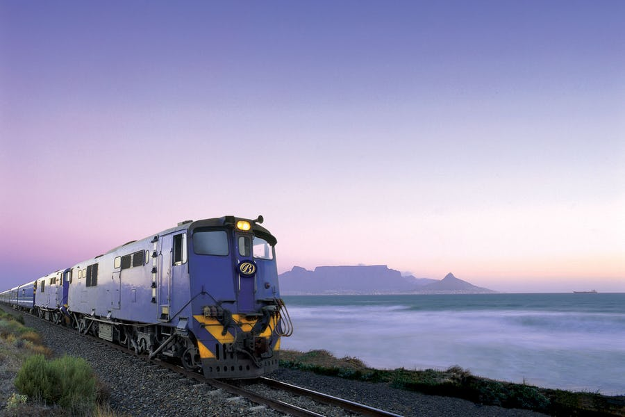 eco-conscious travel - the blue train
