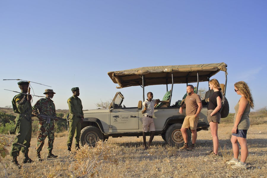 Kenya walking safaris - saruni rhino