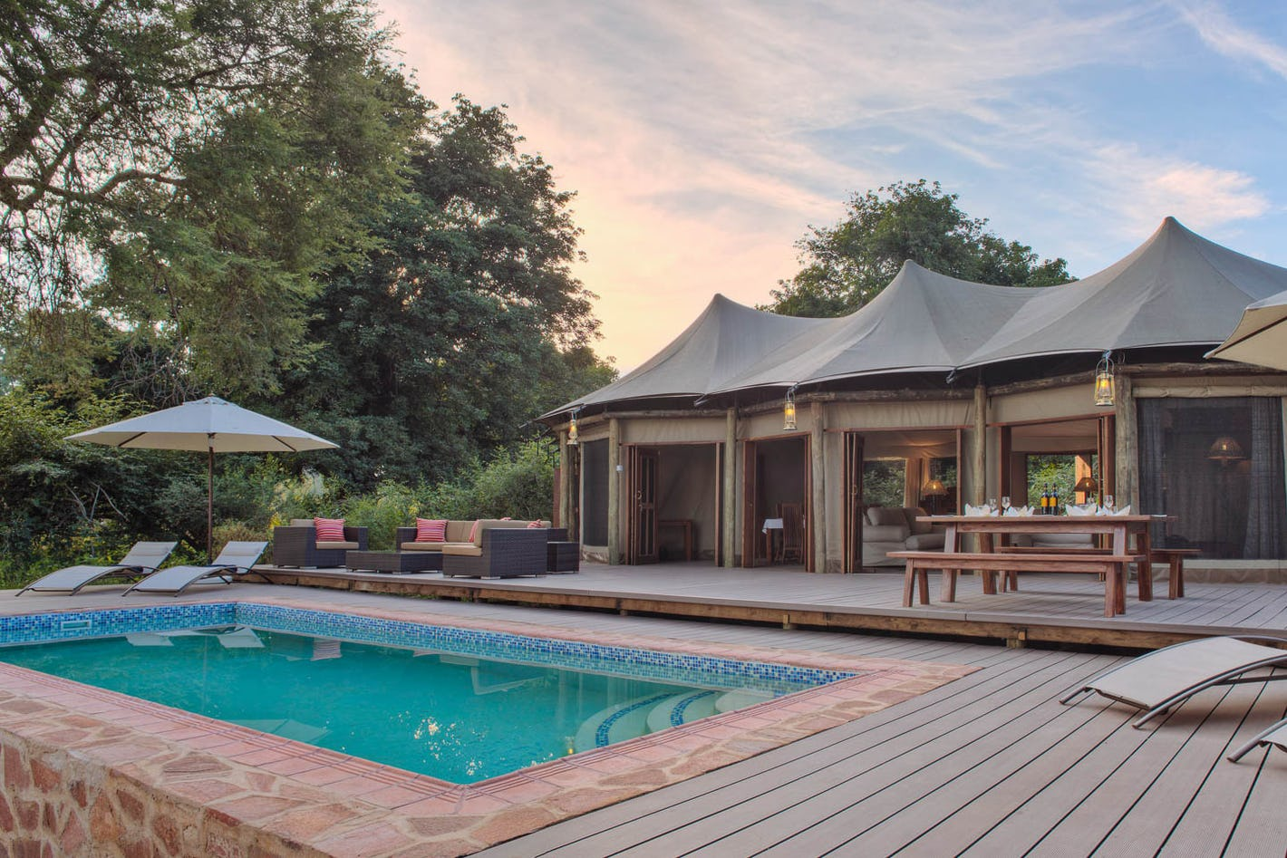 Design your zambia safari online timbuktu travel for Pool designs under 50 000